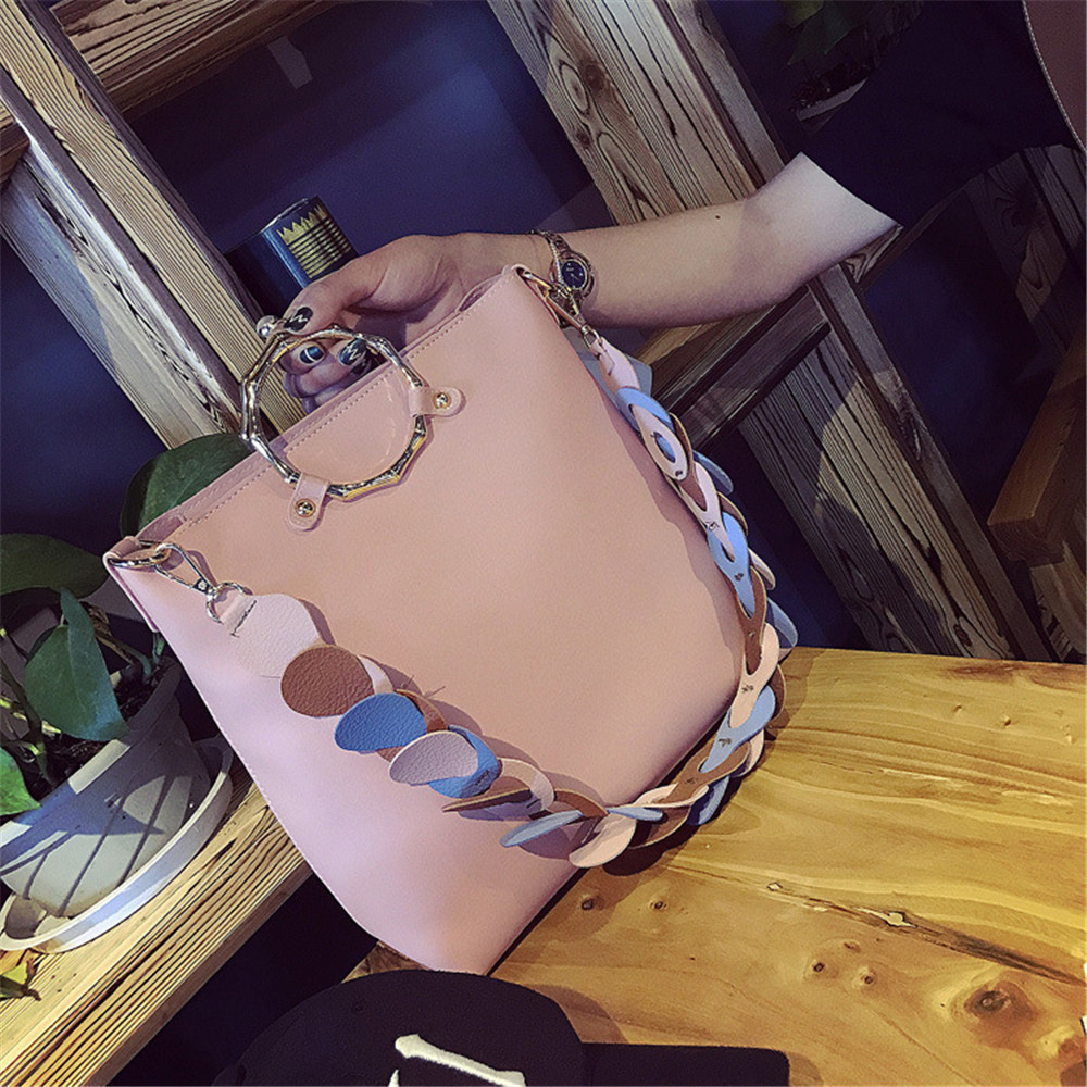 2017 New European And American Fashion Personality Ring Bag Large Capacity Composite Bucket Bags Shoulder Messenger Bag Gifts