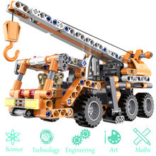 Engineering Crane Vehicles Bulldozer Building Blocks Combinable Compatible Legoed City Construction Enlighten Bricks Kids Toy(China)