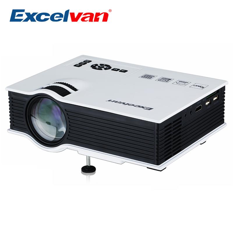 Prix pour Excelvan UC40 Projecteur Portable LED LCD Home Cinéma Vidéo Projecteur USB SD AV Entrée HDMI 800*480 Résolution Multimédia Beamer