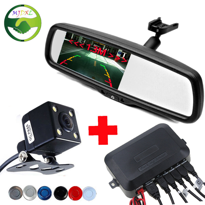 3in1 4 3 Bracket Car Rearview Mirror font b Monitor b font Rear View Camera Car