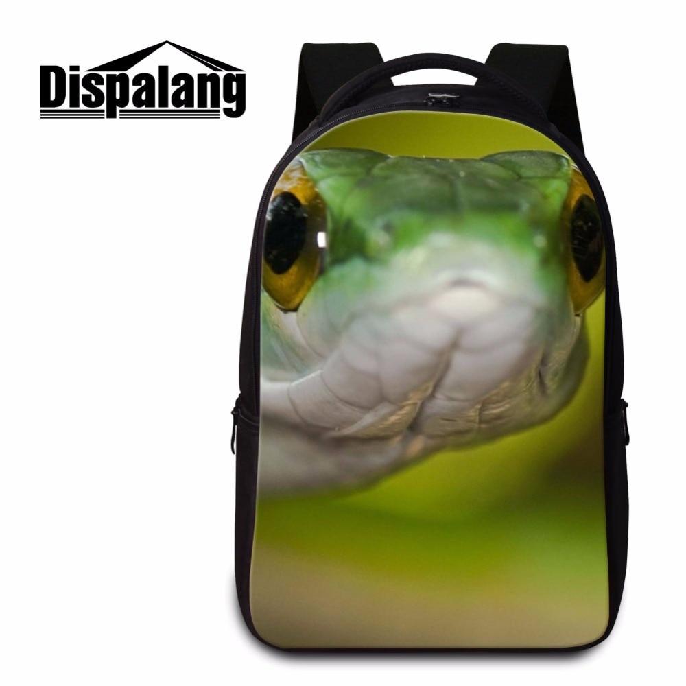 Dispalang Animal Snake Backpack for Teenager Guy Laptop Bookbags for Boys Computer Back Pack Girly Rucksack Cool Mochilas Women