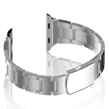 Stainless Steel Watch Band For iWatch 38mm 42mm with Adapter