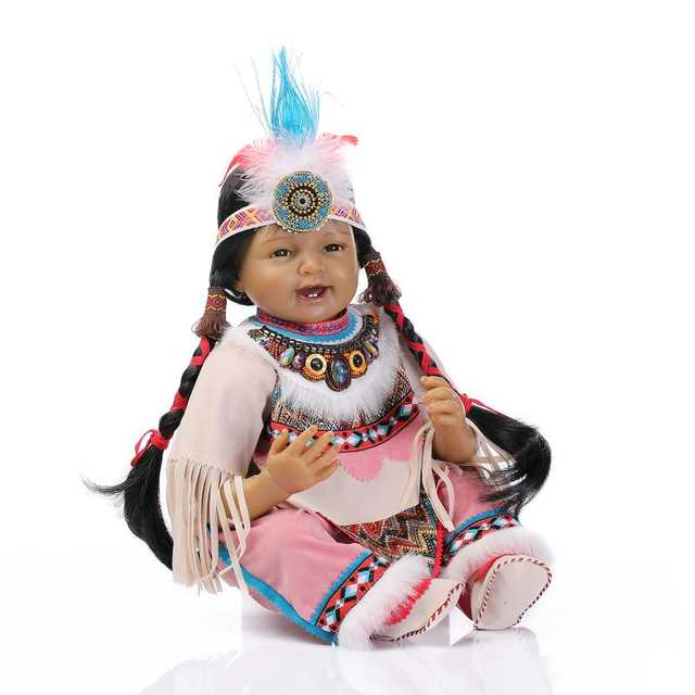 Online Shop Silicone Reborn Baby Doll Toys Native American Indians Black  skin Newbabies Reborn Child Girls Brithday Present Lifelike Doll  8de32198b1b9