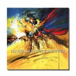 Umiejętności malarz farby żółte abstrakcyjna dekoracja na ścianę obrazy ręcznie malowany obraz krajobraz obraz na płótnie grafika do dekoracji salonu