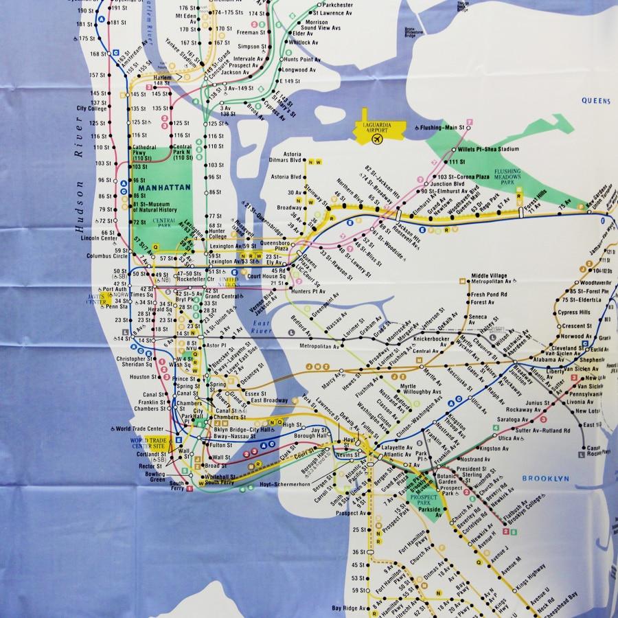 US $36 56  Custom New York City Underground Tube Subway Map Shower Curtain  180*180CM Bathroom Decor-in Shower Curtains from Home & Garden on