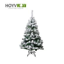 HOYVJOY Flocking Christmas Tree 120cm Snowflake Family Hotel Mall Decoration New Year Gift With Ornamentation