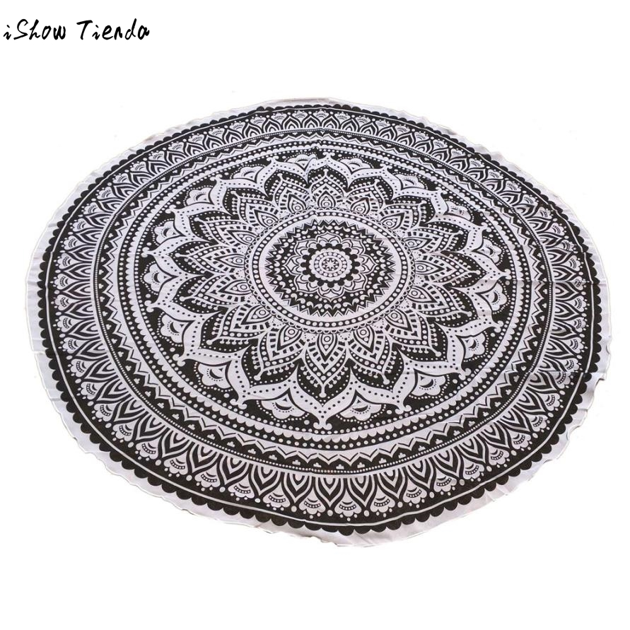 Drop Shipping Beach Cover Up Round Tapestry Beach Throw Roundie Towel Yoga Mat Beach Towels Drap De Plage