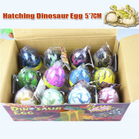 12PCS/Lot Magic Dinosaur Hatching Eggs Big Size 5*7cm Growing in Water Dinosaur Model Puzzle Toys For Kids Boy Girl Gifts