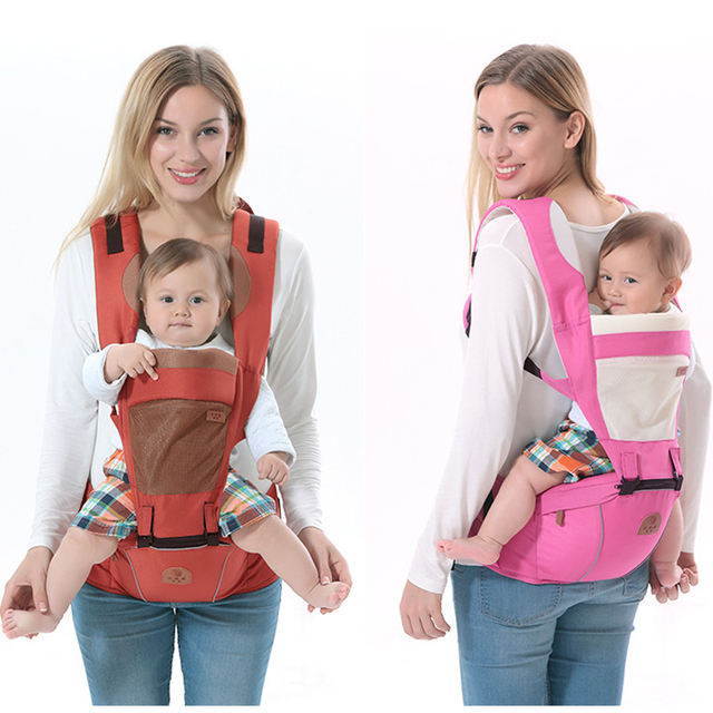 Ergonomic Baby Carrier BackPack Multifunctional 3 In 1 Baby Sling Breathable Hooded Kangaroo For 1 To 36M Infant Baby BackPack Backpacks & Carriers