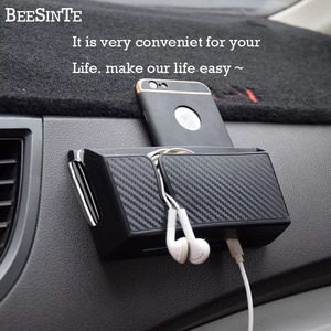Image 2 - Car phone holder Cell Phone Stand for iphone samsung huawei xiaomi Mount Holder storage box bracket Universal Hot freeship