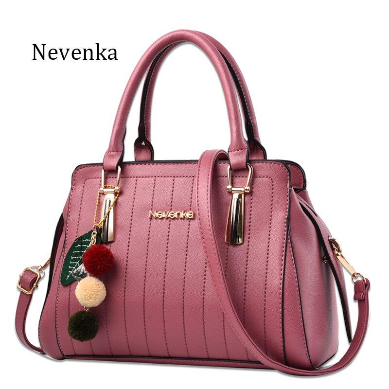 Nevenka Women Bag Casual Tote Pu Leather Handbags Ladies Bags Shoulder Strap Bag