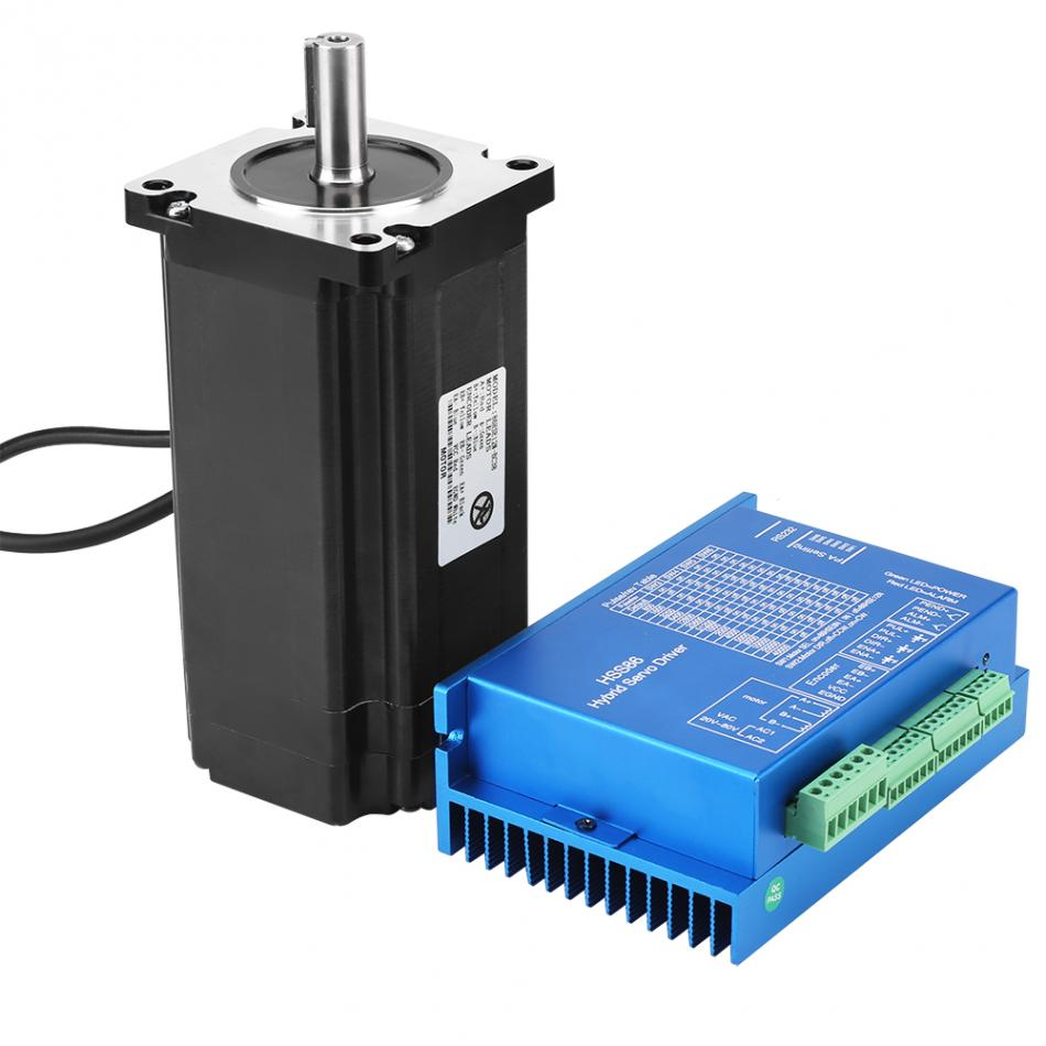 HSS86 Hybrid Servo Driver+ NEMA34 Closed-Loop High Speed Stepper Servo Motor 12N.M 0~3000RPM Nema 34 Stepper Motor Factory Price