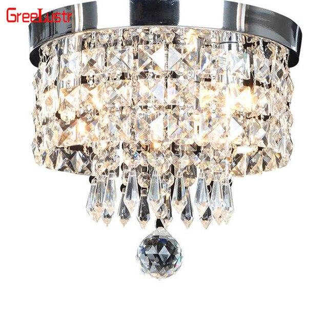 Modern Crystal Pendant Ceiling Lamp Led Lusters Luminaria For Balcony Entrance lamp Plafonnier Lighting Fixtures AC110 220V