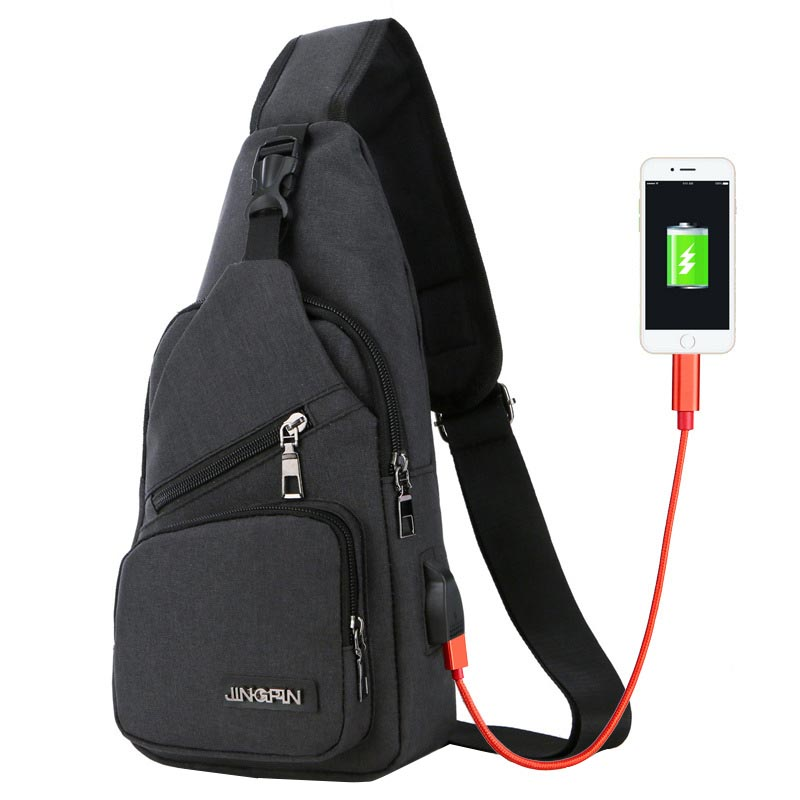 New Oxford Men Nylon Chest Pack Single Shoulder Strap Back Bag Crossbody Bags for Women Sling Shoulder Bag Back Pack Travel