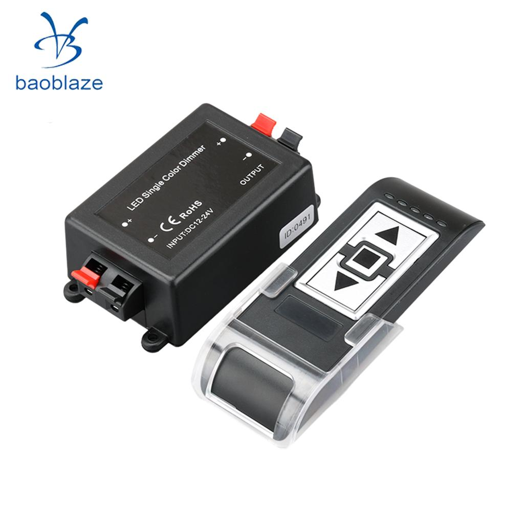 Wireless Remote Striscia Luminosa A LED Singolo Colore RF Dimmer Controller Control DC12-24V 8A