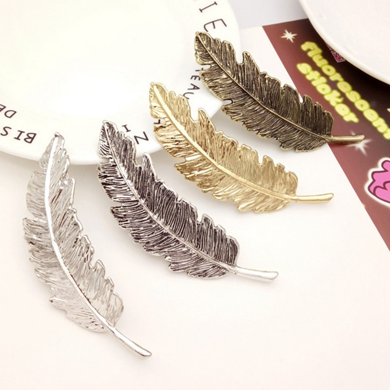 Women Headwear Barrettes for Female Headbands Leaves Hairpins Feather Shape Wedding Hair Accessories for Girls Hairpin halloween party zombie skull skeleton hand bone claw hairpin punk hair clip for women girl hair accessories headwear 1 pcs
