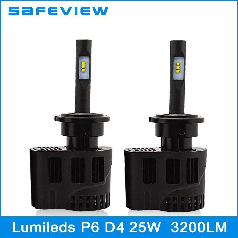 ФОТО Safeview Mini 25W Auto parts car-styling D1S D2S D3S D4S Bulb Led Headlight Replace HID Halogen Bulbs 5000K 6000K