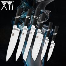 XYj Chef Kitchen Knives Stainless Steel Knife Handle Fruit Vegetable Meat Cleaver Cooking Tools Accessories