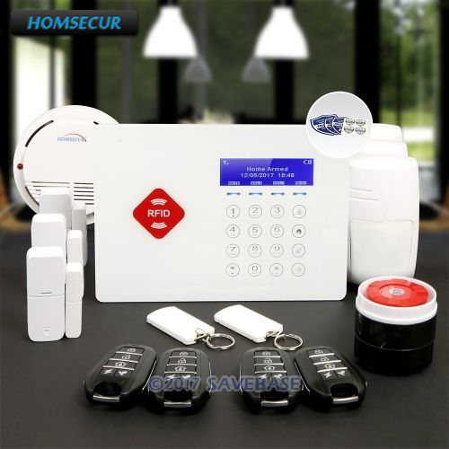 HOMSECUR App Controlled Wireless GSM Burglar Intruder Pet-Immune/Friendly Alarm System