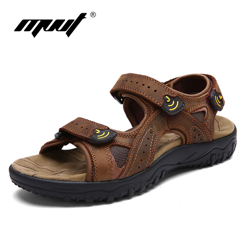 2018 New style summer mens sandals Genuine leather shoes men beach sandals classics Rome style outdoor sandals men footwear