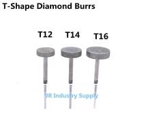 T-Shape Diamond Burrs bits Dremel Burr Rotary Tool Grinding Head Engraving Etching Abrasive tool
