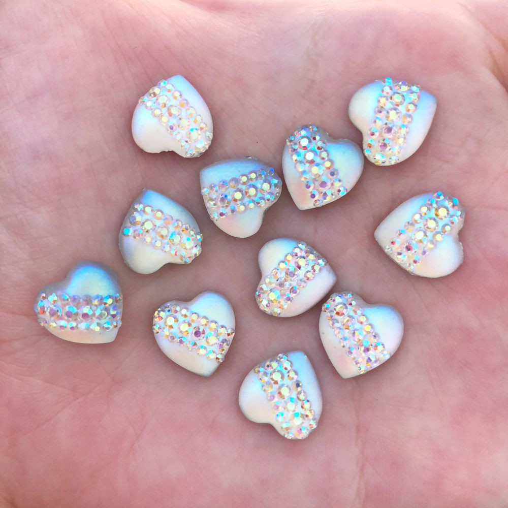 40pcs 12mm Resin Heart Cat s Eye Flatback Rhinestone Wedding Buttons DIY  Crafts R421-in Buttons from Home   Garden on Aliexpress.com  e342d0318429