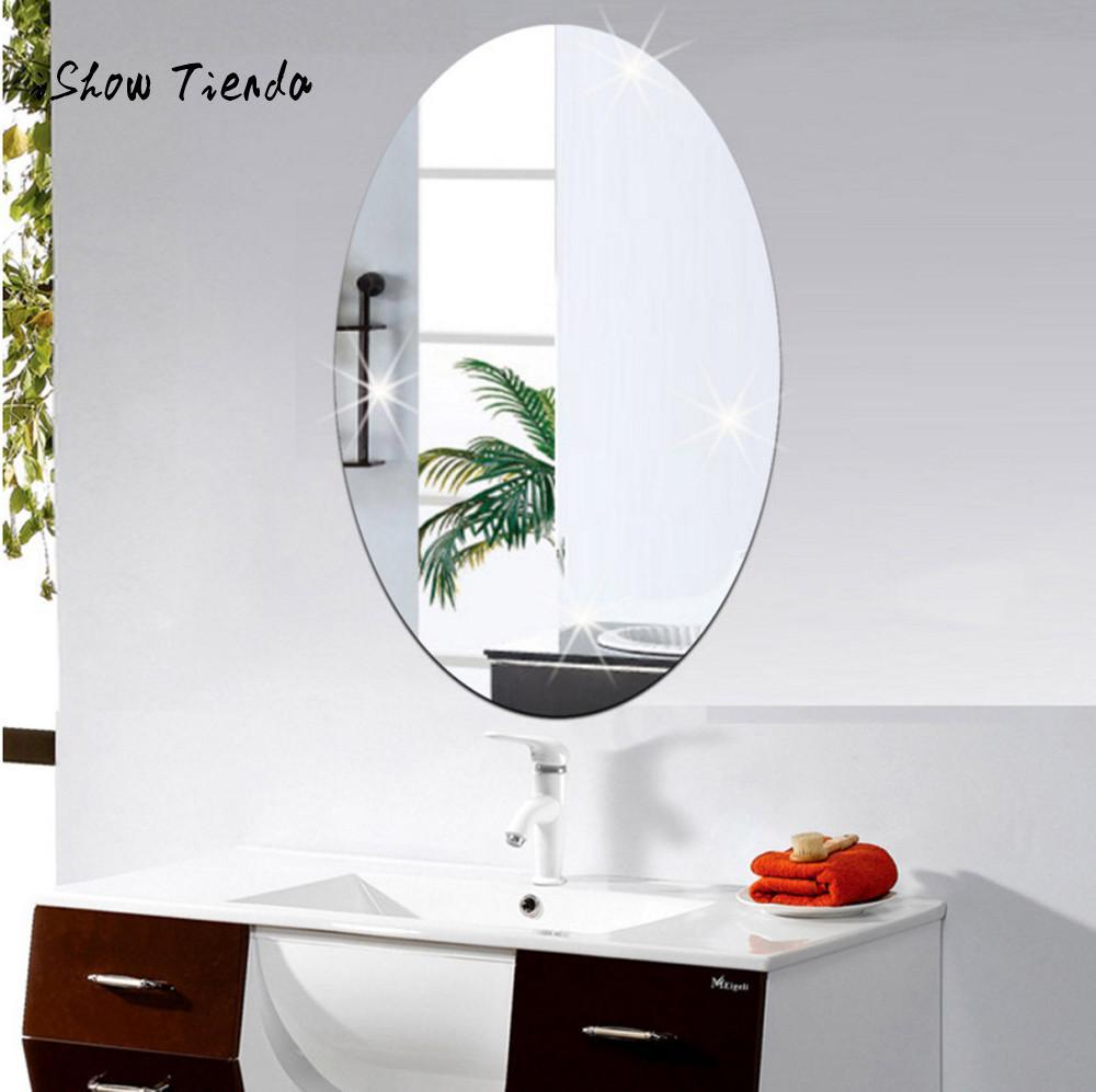 Acrylic 3D Mirror Effect Tile Wall Sticker Room Decor Stick On Art Bathroom Hot!