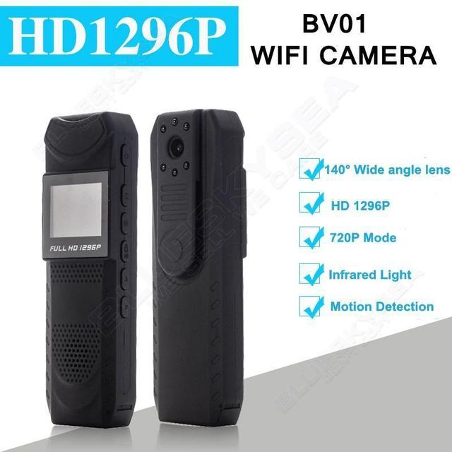 Free shipping!HD 1296P Novatek 96650 Pen Camera DVR Body Police Pocket Camera Loop Recording