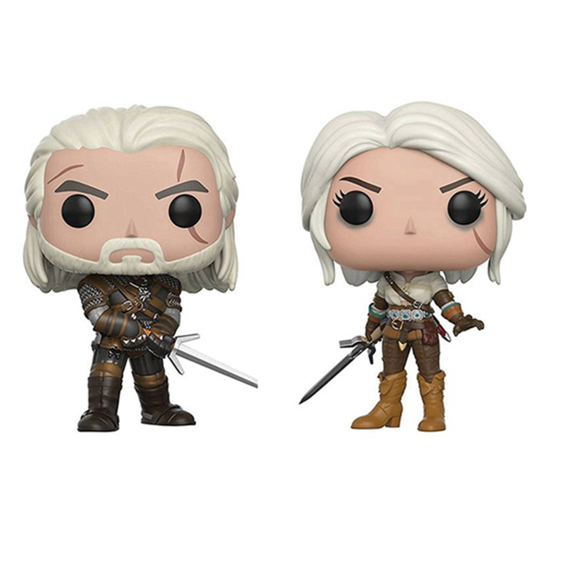 10CM The Wicher Geralt Ciri pop Action Figure Toys Doll For Baby KIDS Christmas Gift