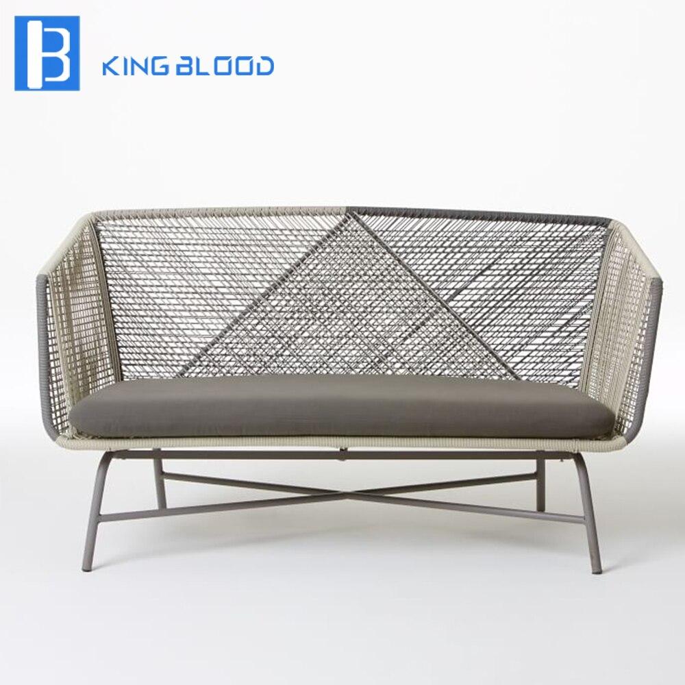 Outdoor Patio Furniture Aluminum Frame: Woven Sofa Atlas Padded Woven Sofa Fortunoff Backyard