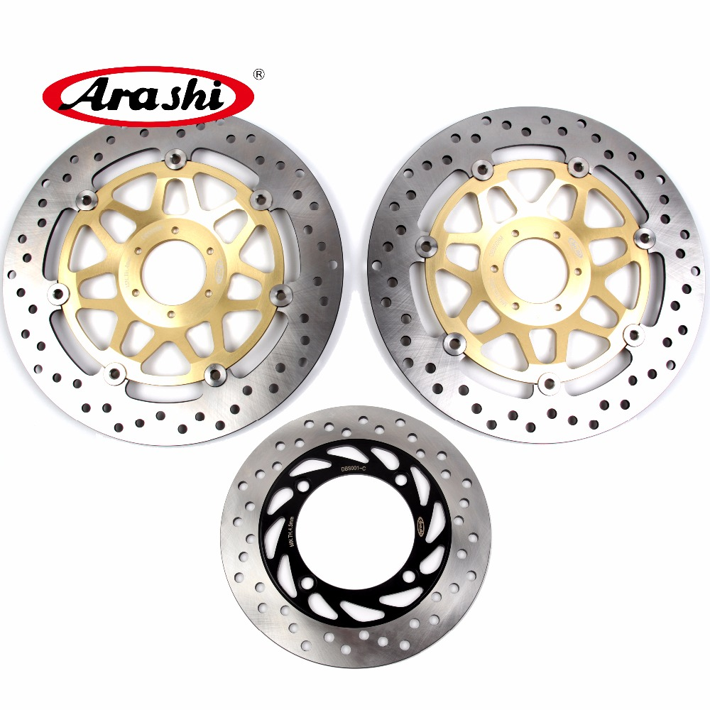 Arashi 1 Set For HONDA CB 400 VTEC 1999 2000 2001 2002 2003 2004 2005 2006-2015 CB400 Front Brake disk & Rear Brake Disc Rotor motorcycle front and rear brake pads for ktm egs lse exc 400 all models 1998 2006 black brake disc pad