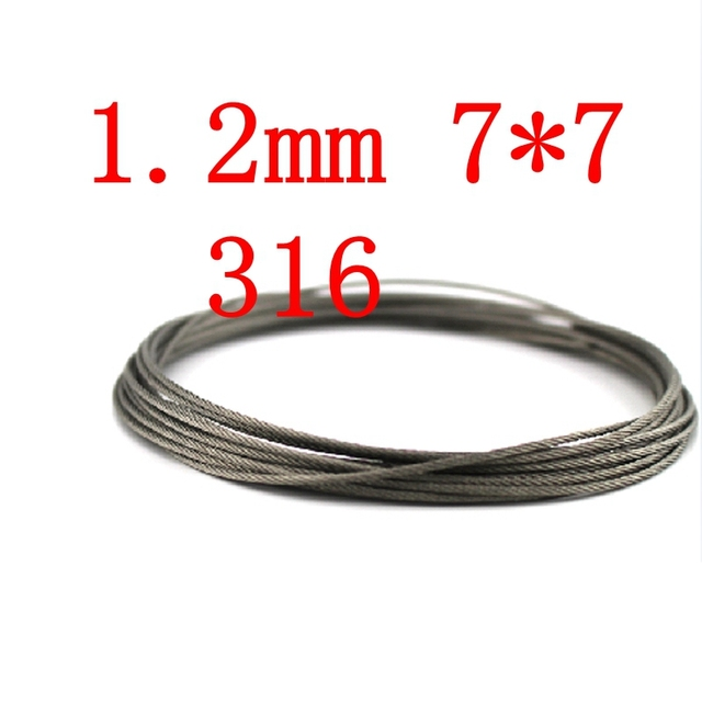 1.2mm 7*7 Authentic Marine Seaworthy Grade 316 316L 7x7 Stainless ...