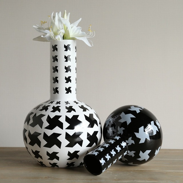 Novelty Classic Ceramic DIY Flower Vases S/L Size Windmill Design Home  Decor Craft Porcelain