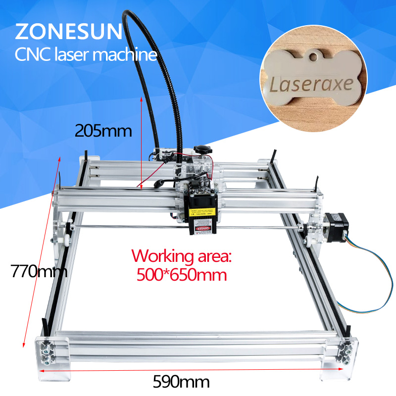 7000mW Mini desktop DIY Laser engraving engraver cutting machine Laser Etcher CNC print image of 50 X 65 cm logo
