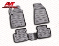 Floor mats for Fiat Bravo 2007 4 pcs rubber rugs non slip rubber interior car styling accessories