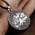 1 unids Nórdicos Vikingos Nudo Collar Amuleto Colgante Soldados Cuervo Árbol de La Vida COLGANTE Collar Talismán Nórdico