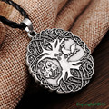1pcs Norse Vikings Knot Amulet Pendant Necklace Soldiers Raven Tree of Life PENDANT Necklace Nordic Talisman