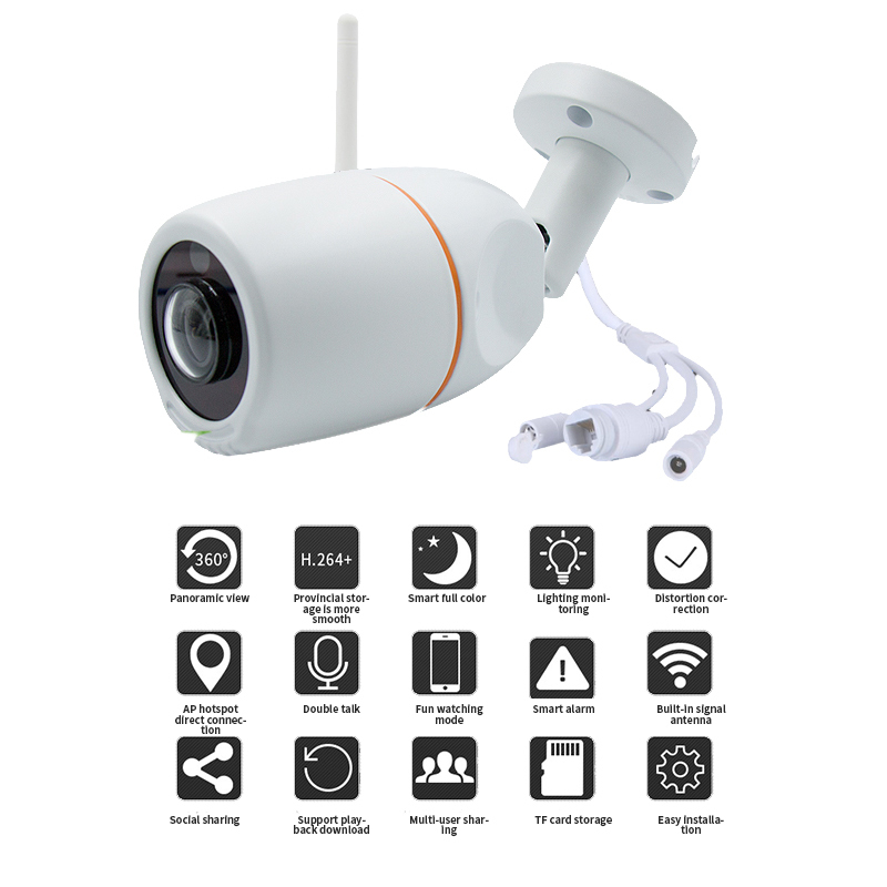 Outdoor WiFi Camera 1.3MP 3.0MP Megapixel HD Wireless Bullet IP Camera Surveillance Security System Home 360 Degree Panora c7815wip wifi ip outdoor waterproof camera 1 0mp megapixel hd cctv wireless bullet surveillance security sysytem home ptz camera
