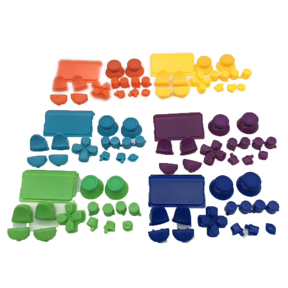Solid Thumbstick R2 L2 R1 L1 Trigger Buttons Mod For SONY Dualshock 4 PS4 DS4 Wireless Controller Accessories