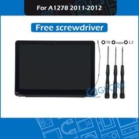 """Novo completo a1278 montagem da tela lcd 661 6594 para macbook pro 13 """"a1278 display substituição 2011 2012 ano emc 2419 2555 2554 Tela de LCD do laptop     -"""