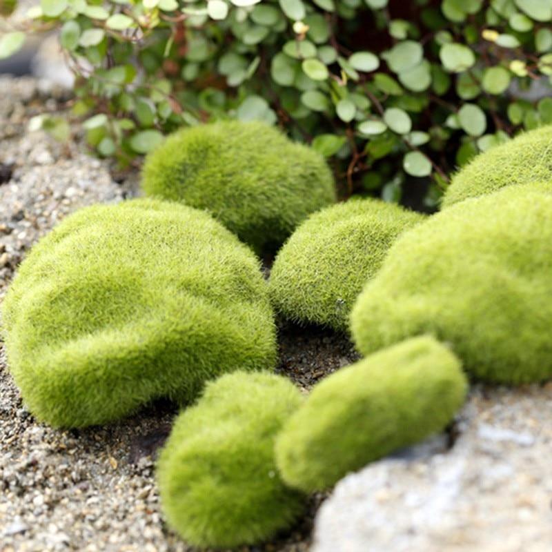 New Artificial Grass Fairy Garden Moss Terrariums Miniatures Gnome Desktop Resin Crafts Decoration