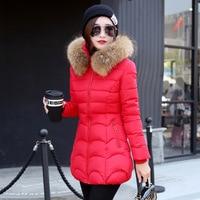 M 3XL 2019 New Fashion Thick Parkas With Big Fur Detachable Winter Jacket Women Long Cotton Hooded Outerwear Coat Female
