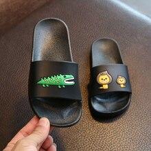 Summer Sandals Slippers Children Home Shoes Cartoon Cute Flip Flop Shoes Little Girls Boys Casual Shoes Kids Flat Beach Shoes