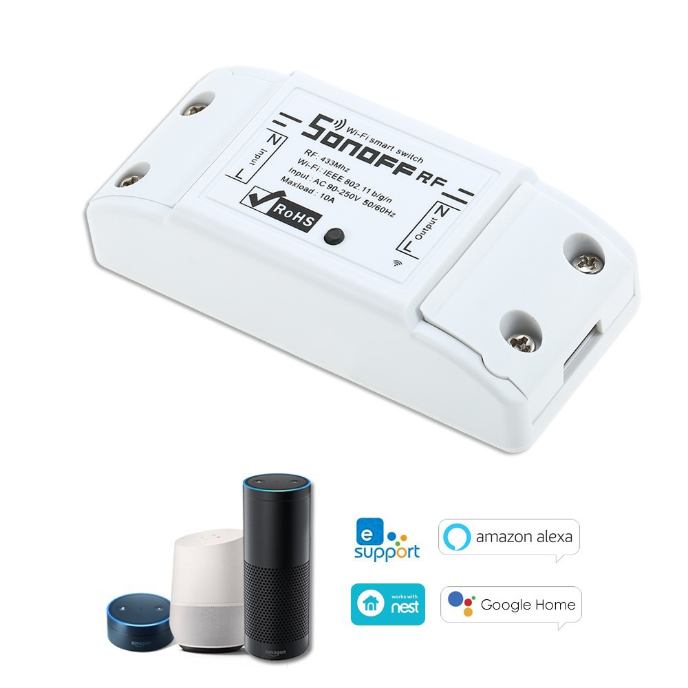 Itead Sonoff RF WiFi Smart Switch 433Mhz Remote Controller DIY Wireless  Smart Home Automation Module for Google Alexa 10A 220V