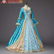 Georgian Marie Antoinette Prom Dress Christmas Caroling Dress Theater Clothing