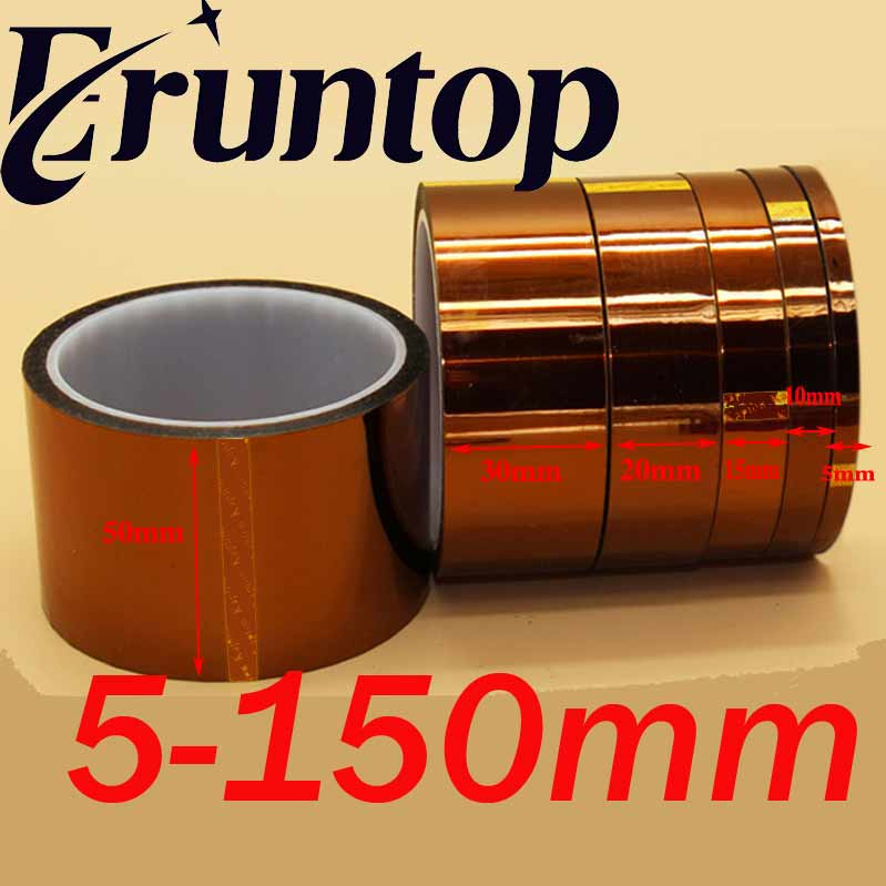 1pcs 30M Adhesive Tape High Temperature Heat Resistant Polyimide Tape 260-300 Degree For Electronic Industry(China)
