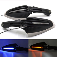 Universal Motorcycle Handguards With LED Running Light Hand Guards Protectors Motorbike For ATV DIRTBIKE MX 28mm