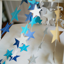 2017 NEW 4M Star Paper Hanging Garlands Tree Christmas Decoration Birthday Wedding Party Decorations