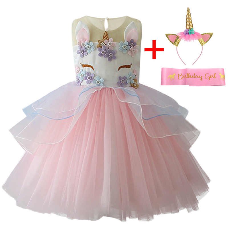 07d3a902a7bcc Unicorn Party Girls Dress Easter Princess Kids Dresses For Girls Clothes  Summer Wedding Dress Vestidos 3