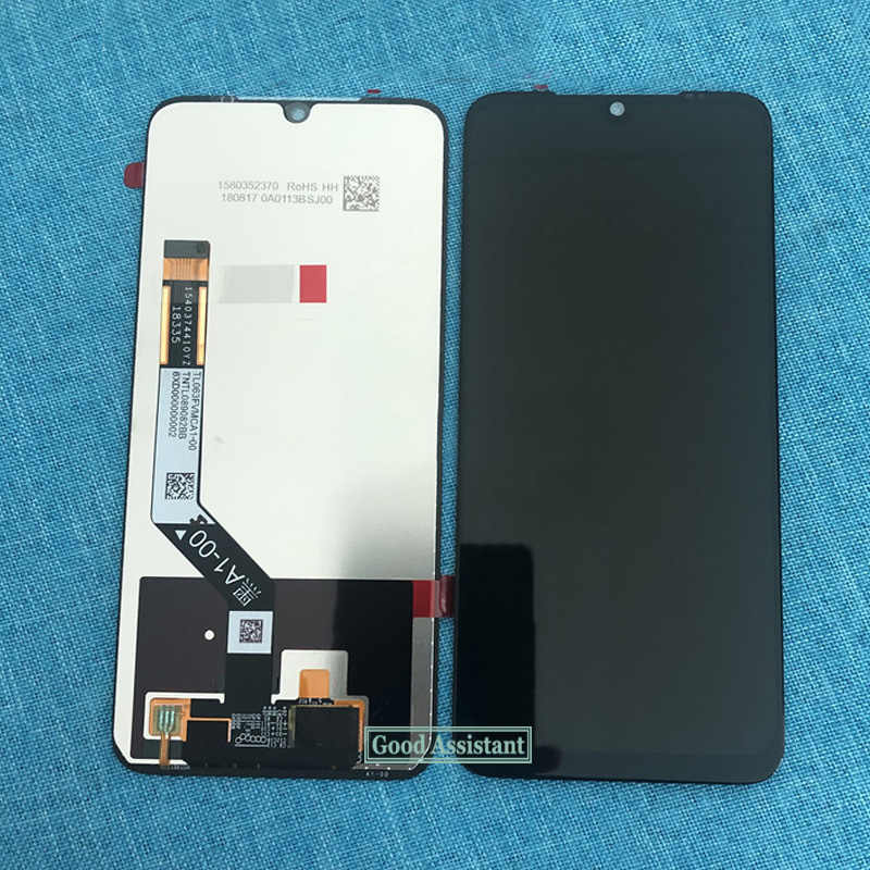 LCD Screen Mobile Phone and Digitizer Full Assembly for Xiaomi Redmi Note 8 Black Color : Black